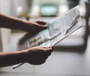Sanomalehden lukua