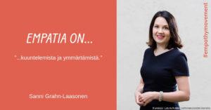 Empatia on... haastattelussa Sanni Grahn-Laasonen #empathymovement