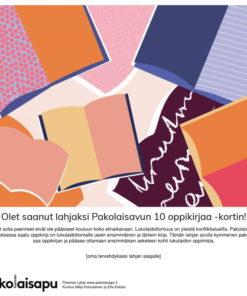 Pakolaisavun 10 oppikirjaa Parempi Lahja -sähköinen kortti