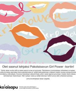 Pakolaisavun Girl Power Parempi Lahja -sähköinen kortti