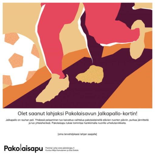 Pakolaisavun Jalkapallo Parempi Lahja -sähköinen kortti