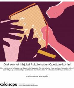 Pakolaisavun Opettaja Parempi Lahja -sähköinen kortti