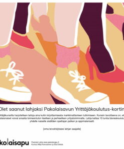 Pakolaisavun Yrittäjäkoulutus Parempi Lahja -sähköinen kortti