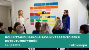 Kouluttaudu Pakolaisavun vapaaehtoiseksi kotoutumistyöhön 14-15 syyskuuta 2019