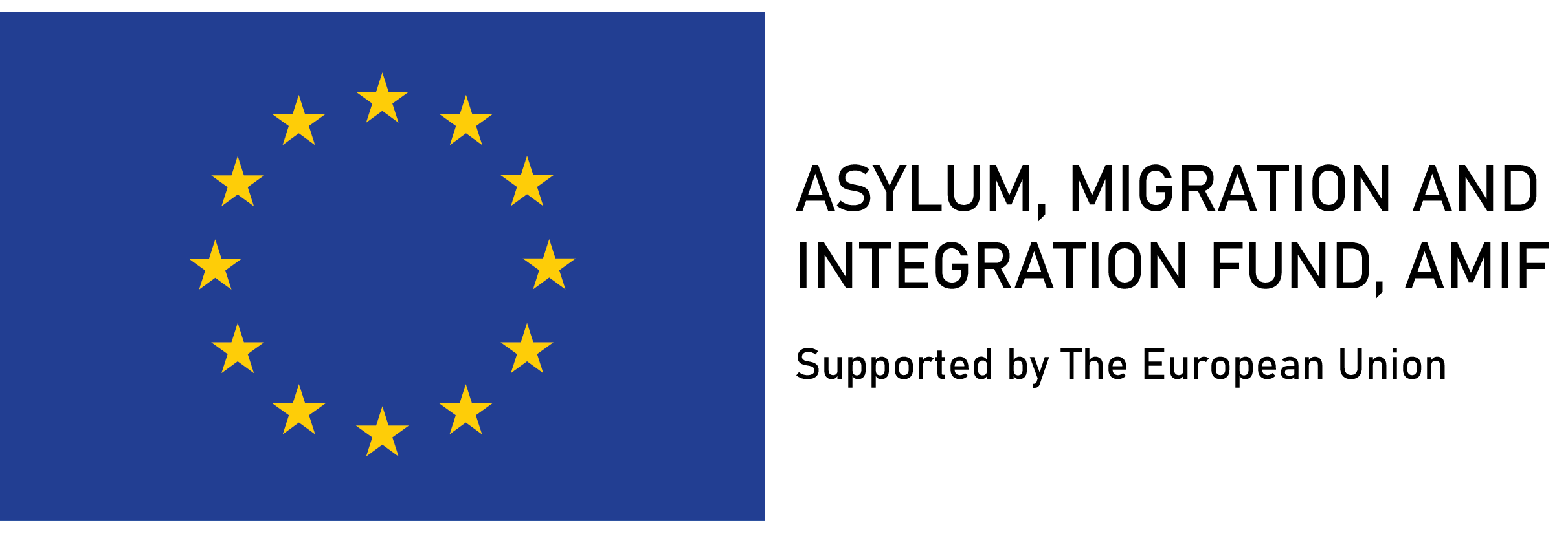 ASYLUM, MIGRATION AND INTEGRATION FUND, AMIF, Supported by The European Union