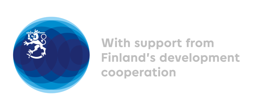 Ministry of Foreign Affairs of Finland, With support from Finland's development cooperation