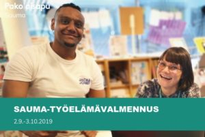 Sauma-työelämävalmennus 2.9.-3.10.2019