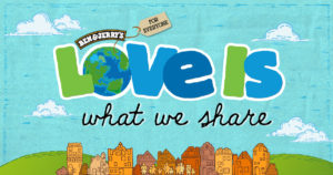 Logo, Love is what we share, Ben & Jerry's